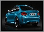 2016, Niebieskie, BMW M2 Coupe Long Beach Blue Metallic